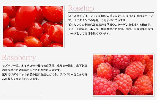 ローズヒップとラズベリーの梅酒